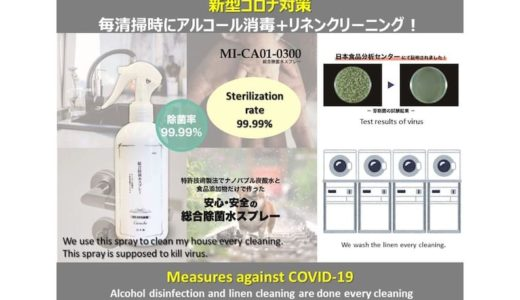 コロナウイルス感染予防対策実施中